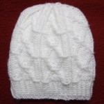 Diamond Trellis Baby Hat for Straight Needles