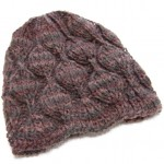 Embossed Leaves Hat for Straight Needles