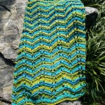 Eyelet Column Chevron Blanket