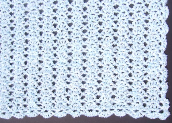 No Beginning Chain Lacy Shell Afghan Afghans Crocheted My Patterns