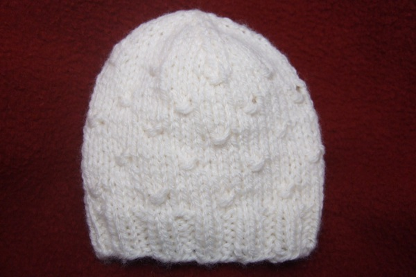 Wrapped Stitches Baby Hat For Straight Needles Baby Clothing