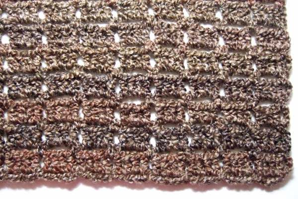 Crochet Afghan Pattern Homespun Yarn : No Beginning Chain Bricks Afghan - Afghans Crocheted My ...