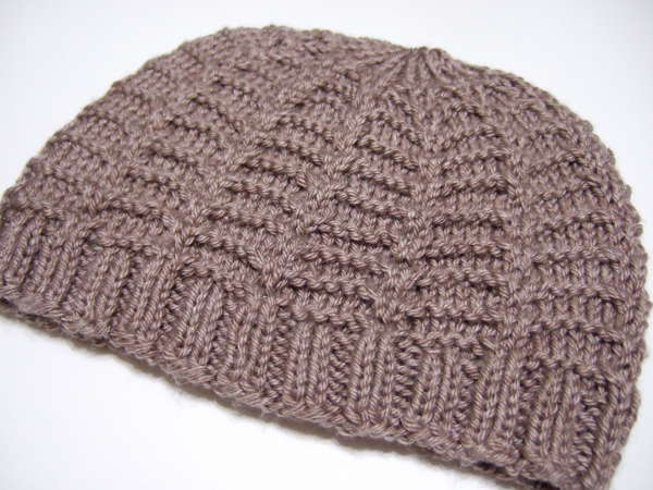 Beanie Knitting Pattern Straight Needles : Climbing Frame Hat for Straight Needles - Clothing Knitted My Patterns - - Ma...