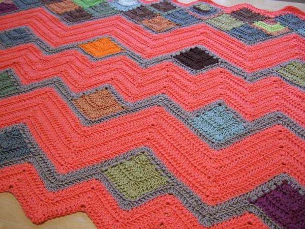 Crazy Ripple Blanket Afghans Crocheted My Patterns Mamas