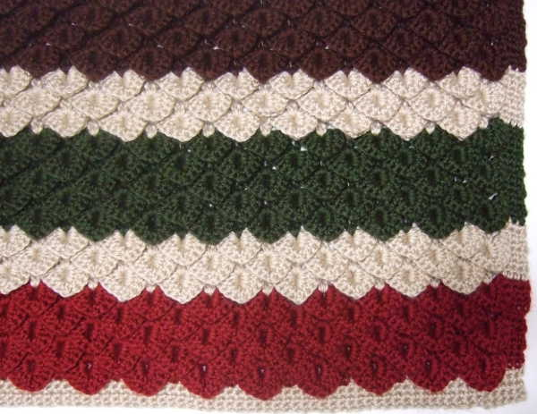 Crocodile Stitch Blanket Afghans Crocheted My Patterns Mamas