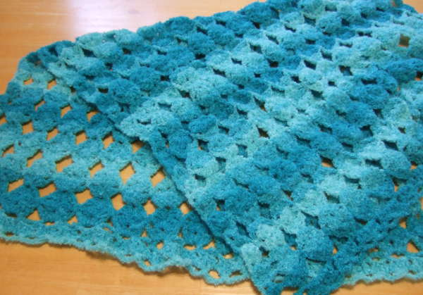No Beginning Chain Egg Blanket - Afghans Crocheted My Patterns ...