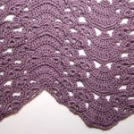Fans and Pansies Ripple Blanket