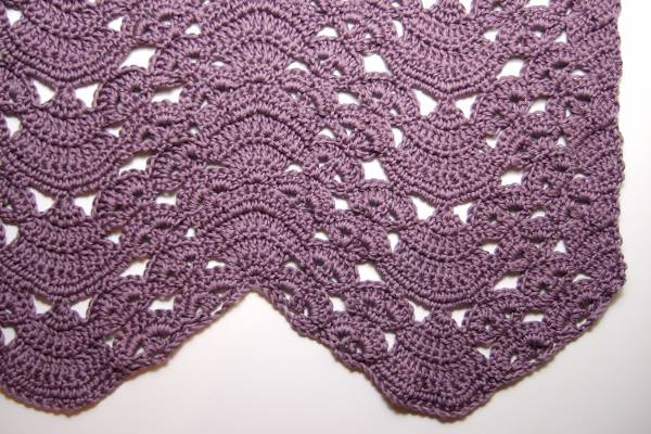 Fans And Pansies Ripple Blanket Afghans Crocheted My Patterns