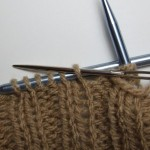 Knit two purl two bind-off