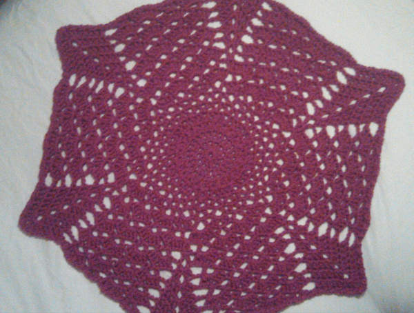 Katherines Shell And V Stitch Round Ripple Blanket Afghans