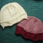 Laced Edged Chemo Caps for Straight Needles