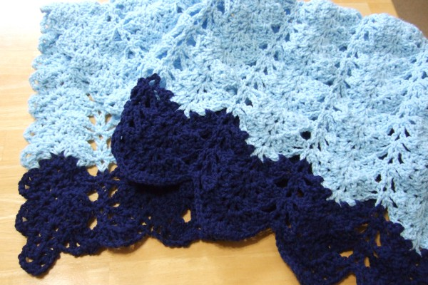 Lacy V-stitch Ripple Afghan - Afghans Crocheted My ...