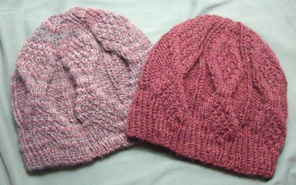 Mock Aran Knitted Mens Hat for Straight Needles - Clothing ...