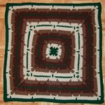 In-the-Round Square Navajo Lap Blanket