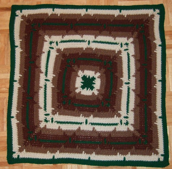 Crochet Navajo Stitch : the traditional crocheted navajo afghan is crocheted across with each ...