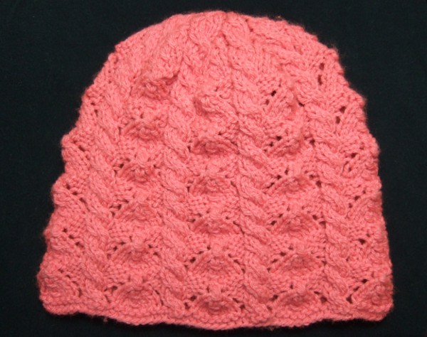 Faceted Lace And Cables Baby Hat Baby Clothing Knitted My Patterns