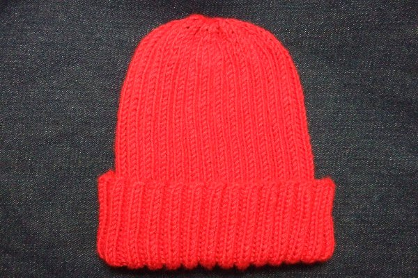 Knitting Pattern For Childrens Hats : Basic Ribbed Baby/Child Hat - Baby Clothing Knitted My Patterns - - Mama...
