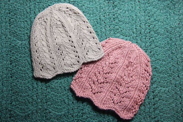 Ribbing And Lace Chemo Caps Charity Clothing Knitted My Patterns