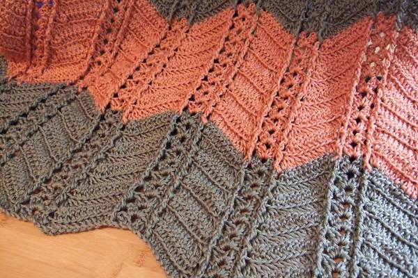 Crochet Stitches Ripple Afghan : Shell and Post Stitch Ripple Afghan - Afghans Crocheted My Patterns ...
