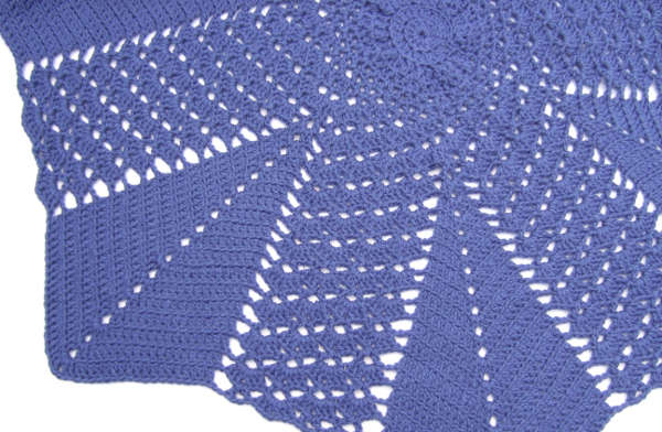 and V-stitch Round Ripple Blanket - Afghans Crocheted My Patterns ...