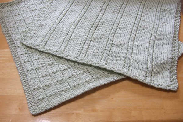 Simple Lines Baby Blankets Afghans Baby Knitted My Patterns