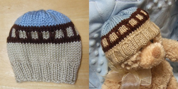Train Track Baby Hat For Straight Needles Baby Clothing Knitted My