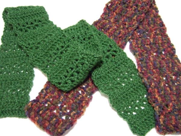 Free Crochet Scarf Patterns For Bulky Yarn : Quick V-stitch Scarf - Clothing Crocheted My Patterns ...